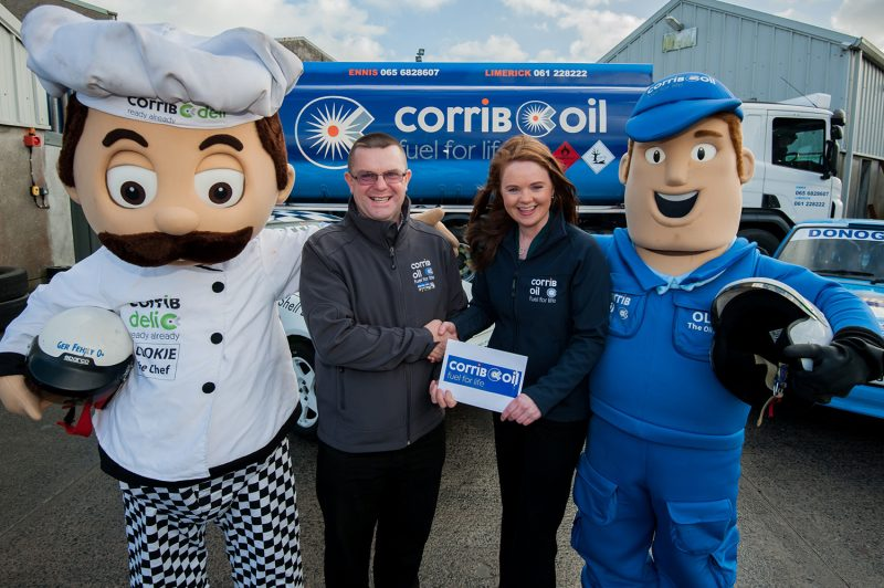 Pictured at the announcement of Corrib Oil's sponsorship of the 2016 Galway International Rally recently were Orla Dalton of Corrib Oil and  Kieran Donohue, Clerk of the Course for the Corrib Oil Galway International Rally 2016. Photo: Reg Gordon